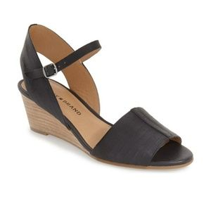 Lucky Brand Black Wedge Sandals size 10